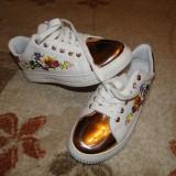 Pantofi sport NOI, deosebiti! - Adidasi dama, Culoare: Alb, Marime: 38