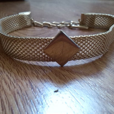 Choker colier vintage made in usa - Colier placate cu aur