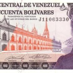 VENEZUELA 50 BOLIVARES 1990  * P 72 * UNC - Necirculata