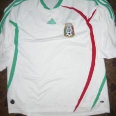Tricou al Echipei Nationale de Fotbal a Mexicului, marca Adidas - Tricou echipa fotbal, Marime: L, Culoare: Alb