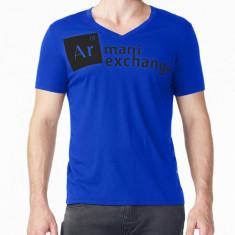 Tricou Armani PT Blue masura L si XL - Tricou barbati, Marime: M, L, Culoare: Albastru, Maneca scurta
