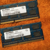 Kit Memorie RAM laptop Elpida 4GB DDR3 ( 2 x 2GB ) Dual Channel 1333 MHz