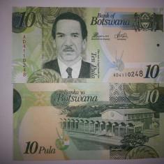 BOTSWANA 10 PULA 2010 UNC - bancnota africa