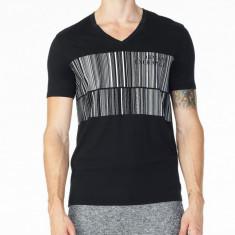 Tricou Armani Bar V-Neck masura M L si XL - Tricou barbati, Culoare: Negru, Maneca scurta