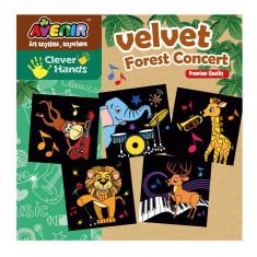 Imagini de colorat - Concertul din padure - Bino - Jocuri arta si creatie