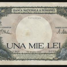 X894 ROMANIA 1000 LEI 1943 aUNC - Bancnota romaneasca