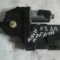 Motoras macara geam dreapta fata Audi A8 An 2004-2009 cod 4E0959802A