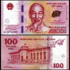 Vietnam 100 dong 2016 - UNC - bancnota asia