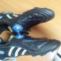 Ghete fotbal Adidas Predator, Marime: 43 1/3, Culoare: Negru