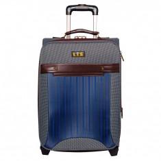 Troler mic LTS, 53, 5 cm, textil, 2 roti, Gri/Maro, 06983BWS - Rucsac Copii