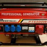 Generator Curent Electric-POWERTECH-12V/220/380V-PORNIRE LA BUTON-3 KW