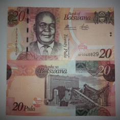 BOTSWANA 20 PULA 2010 UNC - bancnota africa