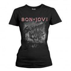 Tricou Fete Bon Jovi - Slippery When Wet