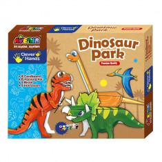 Joc creativ de colorat - Dinozauri - Bino - Jocuri arta si creatie