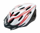 Casca Adulti Out-Mould Marimea L Alb cu Design RosuPB Cod:588400205RM, Casti bicicleta