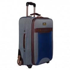 Troler mare LTS, 70 cm, textil, 2 roti, Gri/Maro, 06985BWL - Valiza