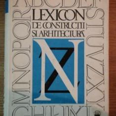 LEXICON DE CONSTRUCTII SI ARHITECTURA VOL III,1988
