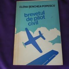 Brevetul de pilot civil - Elena Senchea Popescu. Aviatie istoria aviatiei (f3168 - Biografie