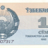 UZBEKISTAN 1 SOM 1992 * P 61 * UNC - Necirculata