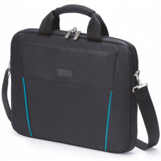 Dicota Slim Case Base 14 - 15.6 black blue notebook case - Geanta laptop Dicota, Geanta, Nailon, Negru