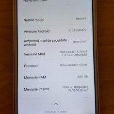 XIAOMI REDMI 3 PRO CU GARANTIE 1AN si 5 LUNI - Telefon Xiaomi