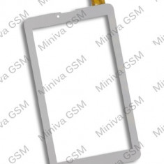 Touchscreen Geam Sticla Myria MY8300 alb