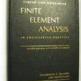 Analiza cu element finit (manual) de Spyrakos (lb. engleza)