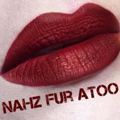 Ruj rezistent Kat Von D Nuanta Nahz Fur Atoo, Rosu