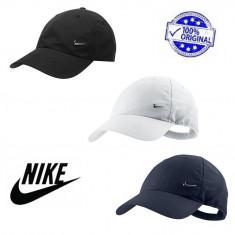 Oferta! Sapca Nike Metal Swoosh originala - ajustabila(reglabila) - Sapca Barbati, Marime: Marime universala, Culoare: Alb, Indigo, Negru