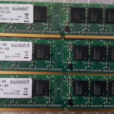 Kit 2 Gb DDr 2 667 Mhz (2x1Gb) SWISSBIT DDR2-PC2-5300 - Memorie RAM