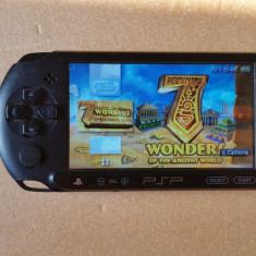 Consola PSP Sony E1000 MODATA PSP Sony MODAT Card 8 GB + 96 Jocuri Pe Carduri + HUSA