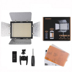 Lampa foto video 300 Pro Led Yongnuo YN-300 III Telecomanda 5500K Noua - Lampa Camera Video