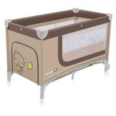 Patut pliabil cu 2 nivele Baby Design Holiday Beige