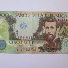 Columbia 5000 Pesos 2012 - bancnota america