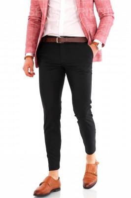 Pantaloni negri - pantaloni barbati  8153B2 foto