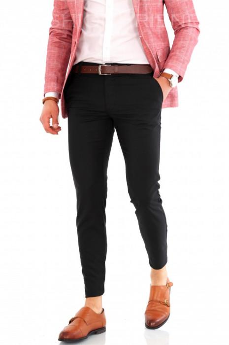 Pantaloni negri - pantaloni barbati  8153B2