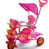 Tricicleta copii ursulet roz