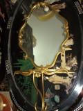 Deosebita consola cu blat din sticla si oglinda in stilul francez
