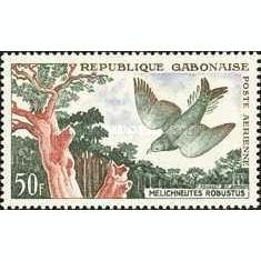 Gabon 1961 - Airmail, pasari, neuzata