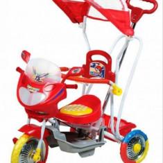 Tricicleta copii rosu cu maner