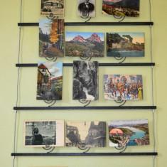 Suport de perete pentru carti postale, vederi, fotografii poze, decoratiuni - Raft/Etajera