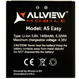 Baterie Acumulator Original Allview A5 Easy, Alt model telefon Allview, 1500mAh/5,5Wh, Li-ion