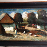 Tablou ulei pe panza scoala baimareana semnat Ivanyi Grunwald Bela - Pictor roman, Peisaje, Altul