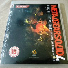Metal Gear Solid 4, PS3, original, alte sute de jocuri! - Jocuri PS3 Altele, Shooting, 16+, Single player
