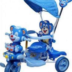 Tricicleta copii ursulet albastru