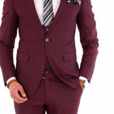 Costum carouri - sacou + pantaloni + vesta - costum barbati 8141, Marime: 44, 50, 52, 54, Culoare: Din imagine