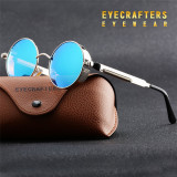 Ochelari Soare Retro / Steampunk Style - Polarizati , Protectie UV100% -Model 3, Unisex, Protectie UV 100%