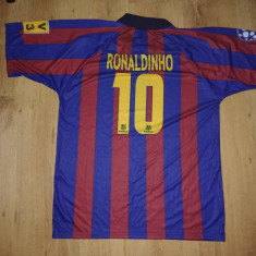 Tricou Barcelona Ronaldinho10 marimea XXL - Set echipament fotbal, Marime: XL/XXL