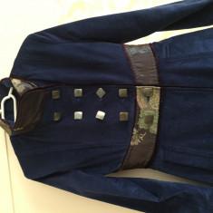Pardesiu Urma Fashion - Trench dama, Marime: 36, Culoare: Albastru