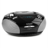 Auna RCD 220 CD Boombox casetofon USB Reglaj radio FM MP3 2x2W negru - CD player